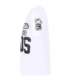 GCDS KIDS White boy T-shirt with white logo