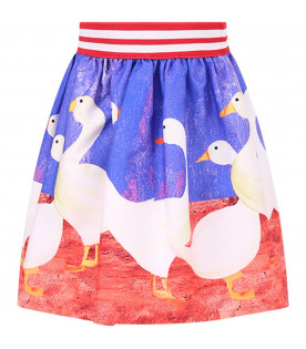 STELLA JEAN KIDS Skirt with geese