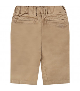 BURBERRY KIDS Beige babyboy pant with iconic horse