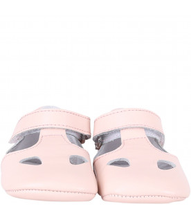 GALLUCCI KIDS Pink babygirl sandals
