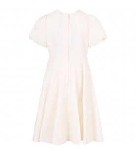 DOLCE & GABBANA KIDS Ivory elegant girl dress