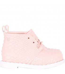 Pink boots for girl