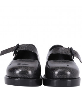 MINI MELISSA Black girl ballerina flats