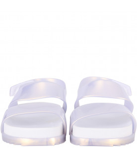 MINI MELISSA White kids sandals
