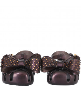 6c1624a8e9a0 ... MINI MELISSA Black girl sandals with bow