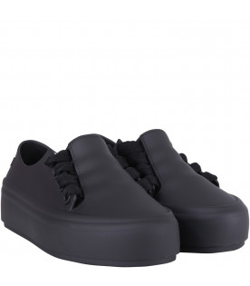 MINI MELISSA Black kids sneakers