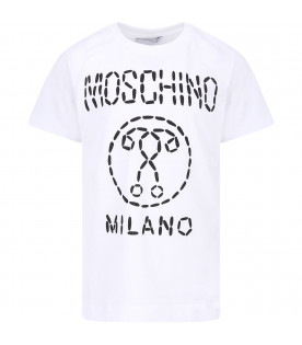 da07c6784 MOSCHINO KIDS Black boy sweatshirt with dotted logo - CoccoleBimbi