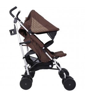 FENDI KIDS Black strollers with douple FF