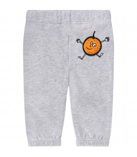 STELLA MCCARTNEY KIDS Grey babyboy sweatpants with colorful patches