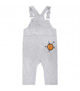 STELLA MCCARTNEY KIDS Grey babyboy overall with colorful patches