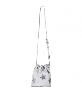 STELLA MCCARTNEY KIDS Silver girl bag with stars