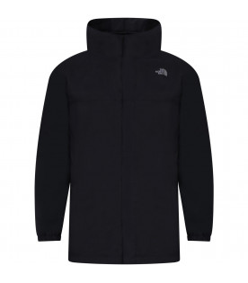 THE NORTH FACE KIDS Black boy parka with iconic logo