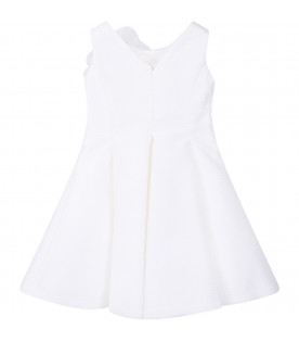 LOREDANA White girl dress with flower