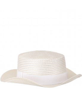 Braided straw girl hat