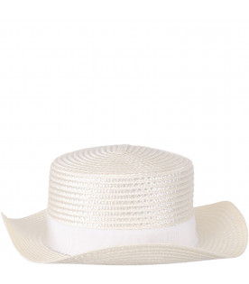 Braided straw hat for girl