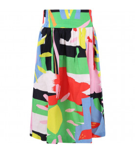 STELLA MCCARTNEY KIDS Colorful girl skirt with print