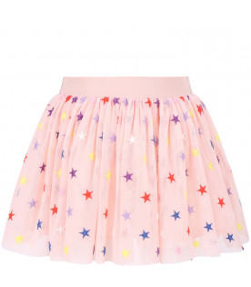 STELLA MCCARTNEY KIDS Pink girl skirt with colorful stars