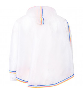 BILLIEBLUSH Transparent girl poncho with colorful stripes