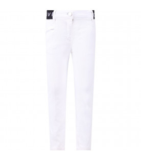 GIVENCHY KIDS White girl pants with grey logo