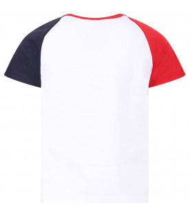 GIVENCHY KIDS White girl T-shirt with white stripes and logo