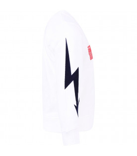 GIVENCHY KIDS White boy sweatshirt with red logo
