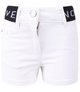 GIVENCHY KIDS White girl short with grey logo