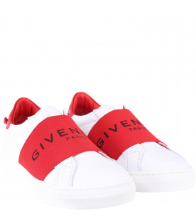 GIVENCHY KIDS White kids sneakers with black logo