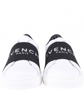 GIVENCHY KIDS White girl sneakers with silver logo