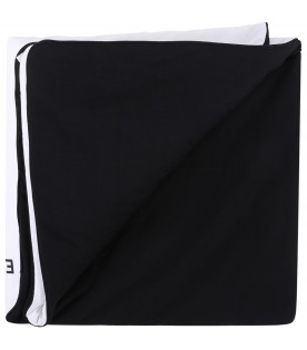 GIVENCHY KIDS White and black babykids blanket with black logo