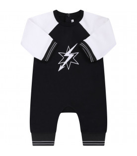 GIVENCHY KIDS Black and white babyboyl babygriw with white star and arrow