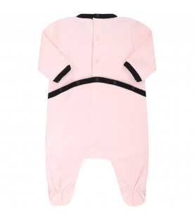 GIVENCHY KIDS Pink babygirl babygriw with black logo