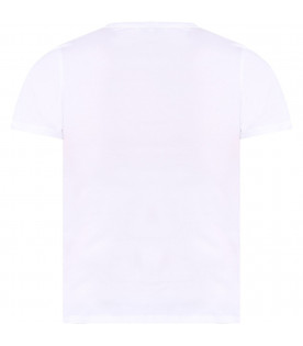GIVENCHY KIDS White kids T-shirt with black rubbred logo