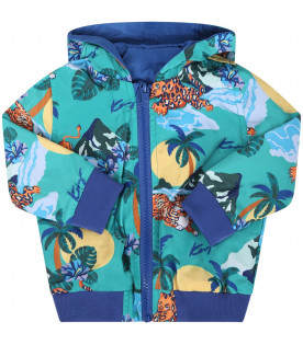 KENZO KIDS Colorful babyboy reversible windbreaker