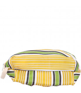 BOBO CHOSES Yellow, green and white kids pencil case