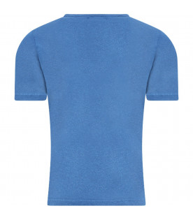 BOBO CHOSES Blue kids t-shirt with waves