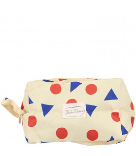 BOBO CHOSES Yellow kids pencil case with prints