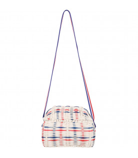 BOBO CHOSES White braide girl bag