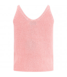 BOBO CHOSES Pink girl top with cherries