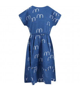 03a403bc2 BOBO CHOSES Blue girl dress with seagull ...