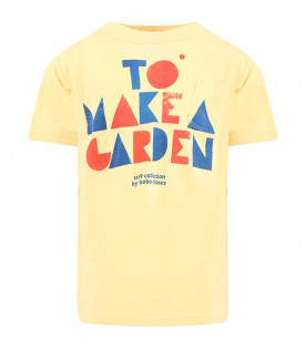 "BOBO CHOSES T-shirt gialla ""To Make a Garden"" per bambini"