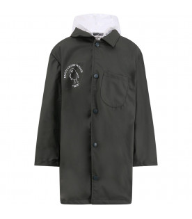 BOBO CHOSES Military green kids raincoat
