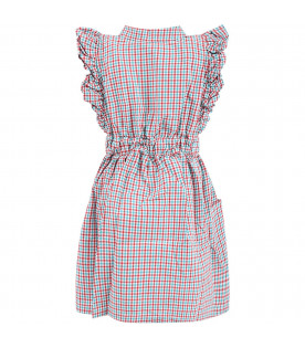 BOBO CHOSES Vichy checked girl dress