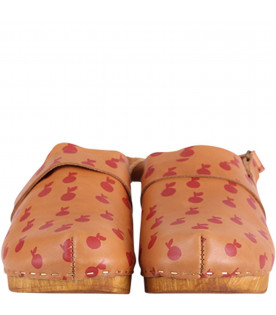 BOBO CHOSES Leather girl clogs with apples