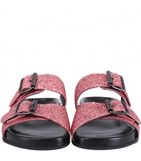 GALLUCCI KIDS Pink girl sandals