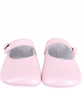 GALLUCCI KIDS Pink babygirl ballerina shoes