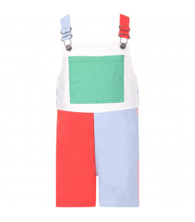 STELLA MCCARTNEY KIDS Color block girl overall