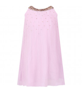 BILLIEBLUSH Lilac girl dress with colorful sequins