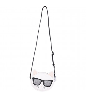 KARL LAGERFELD KIDS White girl bag with colorful Choupette
