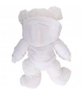 GIVENCHY KIDS White kids Teddy Bear with black logo