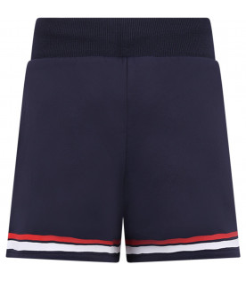 GIVENCHY KIDS Blue girl short with black logo